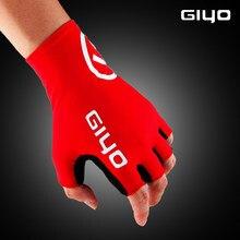 Giyo ciclo meio dedo luvas gel esportes bicicleta luvas de corrida de bicicleta mtb estrada guantes luva ciclismo feminino masculino médio prazo
