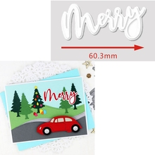Merry Word Metal Cutting Dies Merry Christmas To You Die Cut For Card Making DIY Decoration New 2019 Embossed Crafts Cards