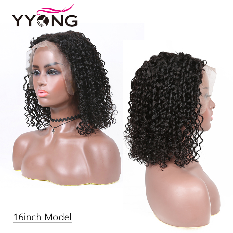 YYONG 13x4 Lace Front  Wigs  Deep Wave  Short Bob Wig With Pre Plucked Hairline Topline Lace Wig 5
