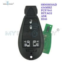 Remtekey #8 68066859ad journeygrand cherokeevoyager fobik key