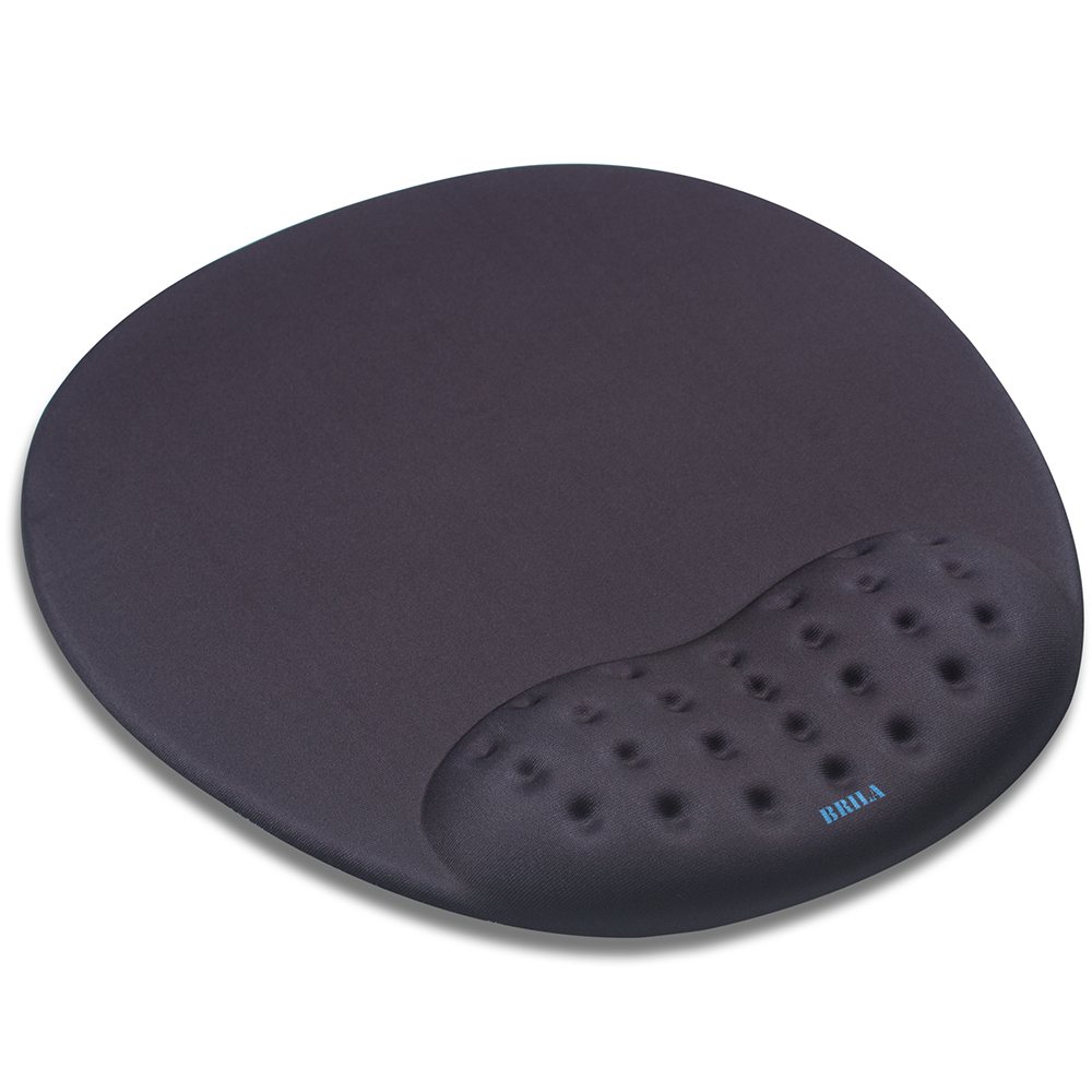BRILA Mouse Pad With Wrist Support - Large Mouse Mat With Ergonomic Soft Memory Foam Wrist Rest Cushion Pad Non Slip Gaming Pad