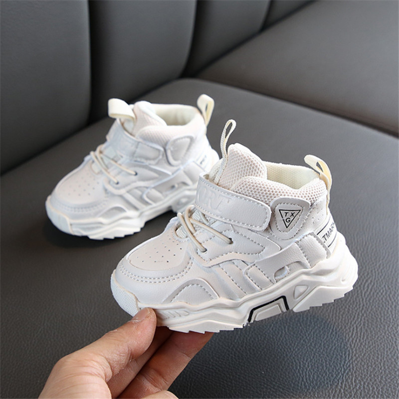 DIMI 2019 Autumn Baby Girl Boy Toddler Shoes Infant Casual Walkers Shoes Soft Bottom Comfortable Kid Sneakers Black White