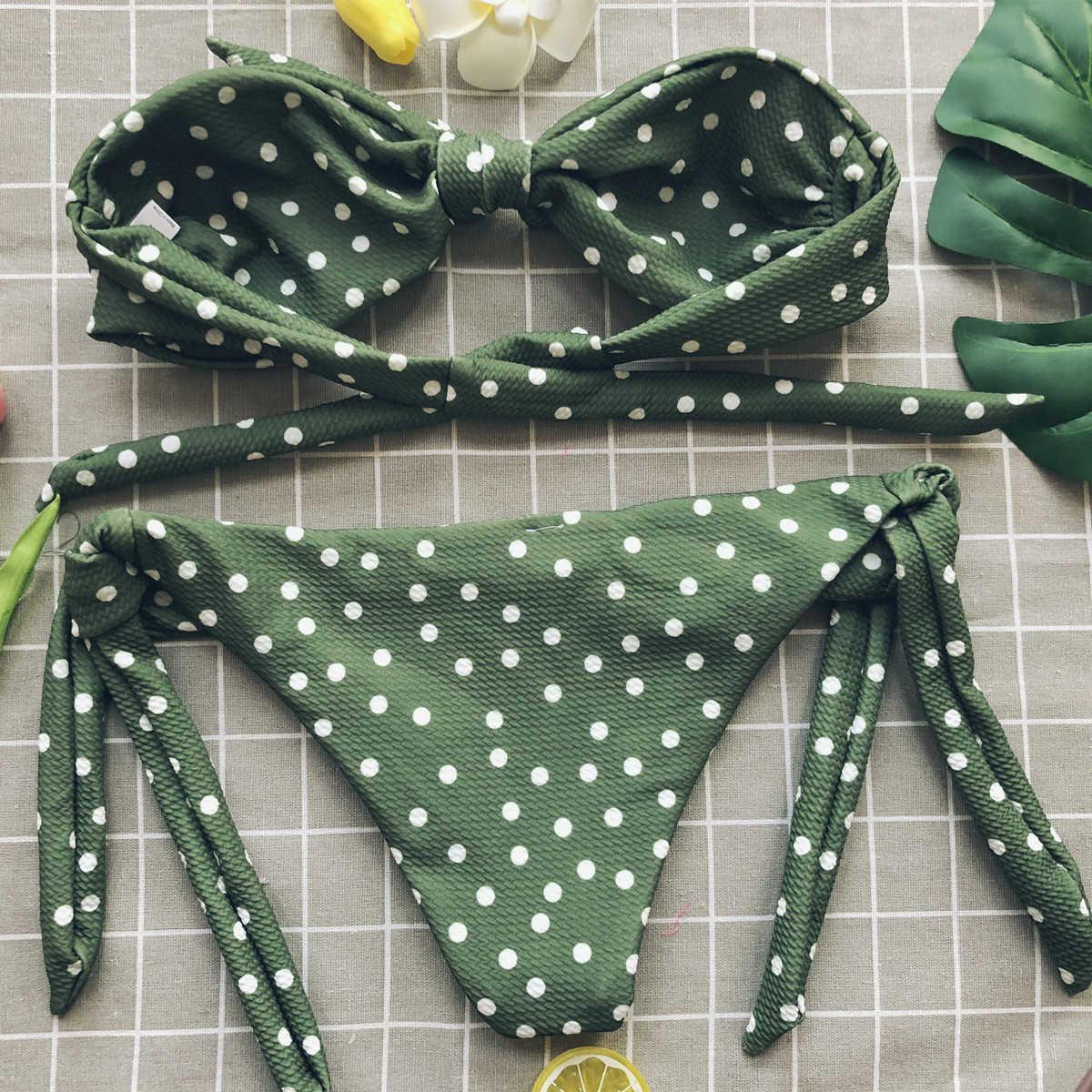 2020B jeder Zwei-stück Trennt Mini String Micro Bikini Set Mujer Plus Größe Badeanzug Bademode Anzug Für Frauen Bikinis schwimmen Bottom