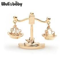 Wuli & bebê ouro prata cor escorpião broches feminino liga libra constelação banquete festa broche pinos presentes