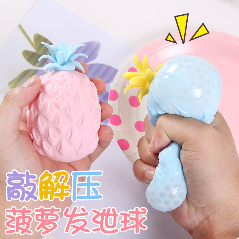 Adult-Toys Ball-Stress Pineapple Fidget Squishy Pop-It Fun Reliever Soft Children Sensory img4