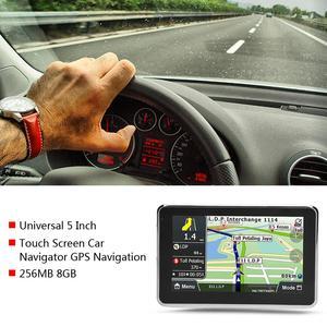 Image 3 - أداة ملاحة للسيارة مزودة بنظام تحديد المواقع DDR256M 8G MP3 FM خريطة أوروبا 508 ملحقات السيارة شاشة لمس 5 بوصة عالمية