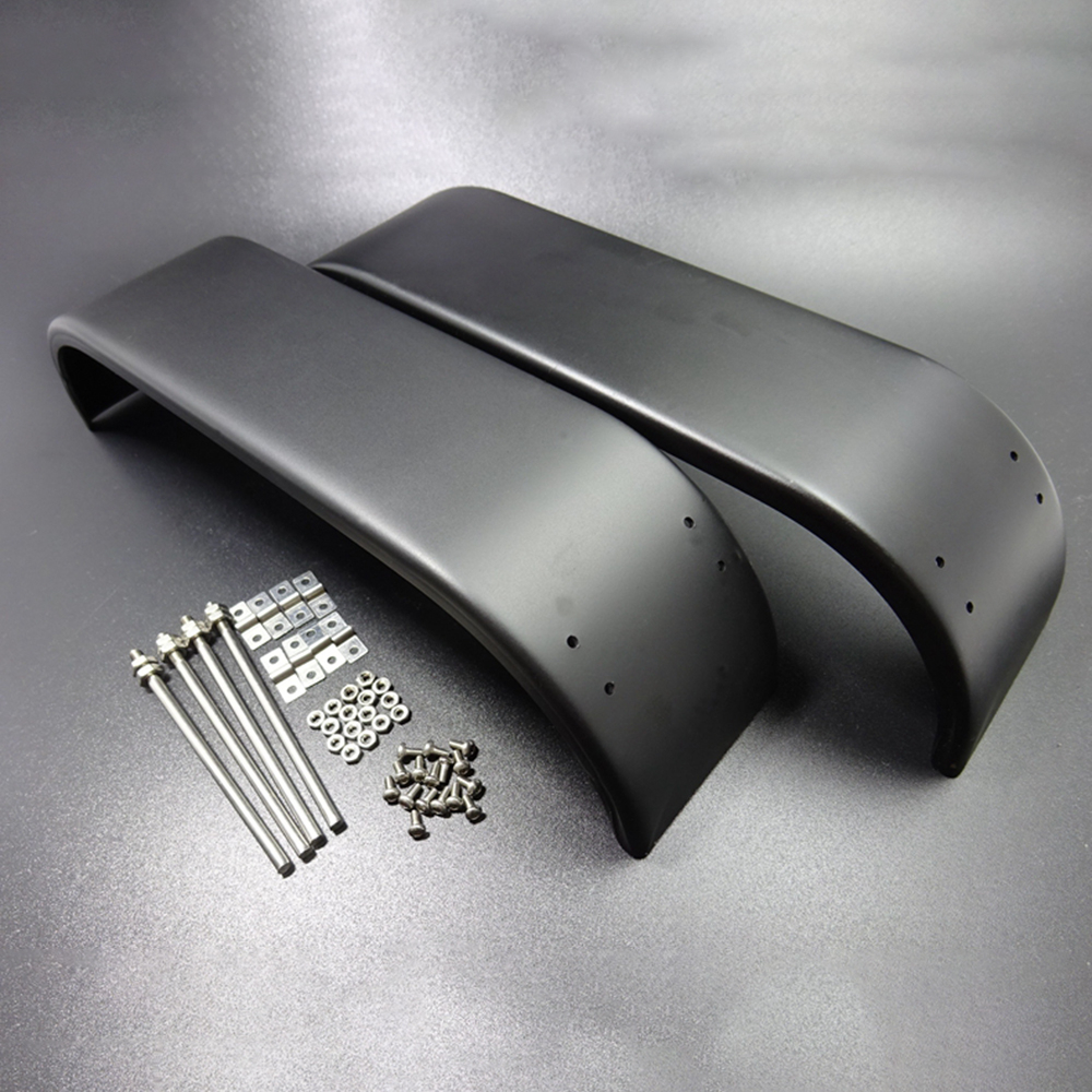 1 Pair Metal Thicken Rear Double Axle Fender For 1/14 Tamyia Rc Truck Dump Scania Actros MAN R620 3363 1851