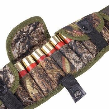 Tactical 15/25/28 Rounds Ammo Shell Holder Belt 12/20 Gauge Ammo Pouch Shot Gun Shell Bandolier Waist Bullet Cartridges Holster 6