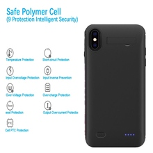 4500mAh  Battery Case  For iPhone XR shockproof External Power Battery Charger Case For iPhone X XS Max Stand Charing Cover