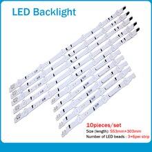 جديد 10 قطعة/المجموعة LED قطاع ل سامسونج UE40H6500 D4GE 400DCA R2 R1 D4GE 400DCB R2 R1 BN96 30449A 30450A BN96 38889A 38890A 30417A