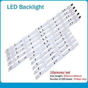 Image 1 - New 10 PCS/set LED strip for Samsung UE40H6500 D4GE 400DCA R2 R1 D4GE 400DCB R2 R1 BN96 30449A 30450A BN96 38889A 38890A 30417A