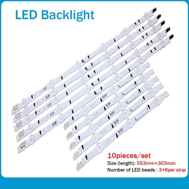 New 10 PCS/set LED strip for Samsung UE40H6500 D4GE 400DCA R2 R1 D4GE 400DCB R2 R1 BN96 30449A 30450A BN96 38889A 38890A 30417A
