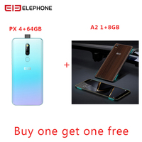 Elephone PX 6.53 FHD+ Full Screen 16MP Pop Up Camera Quad Core Global Mobile phone Android 9.0 Fingerprint Smartphone 2019