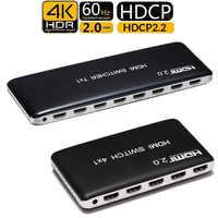 4K 60HZ interruptor HDMI 7x1 4x1 3x1 HDMI 2,0 conmutador convertidor de vídeo 7 4 3 en 1 HDCP 2,2 3D para PS3 PS4 XBOX DVD PC a TV HDTV