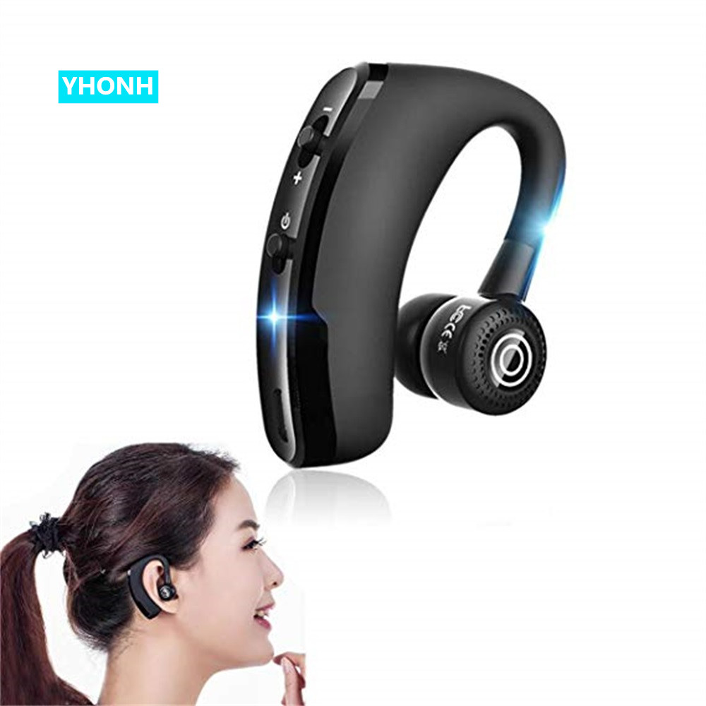 YHONH New <font><b>V9</b></font> Wireless <font><b>Bluetooth</b></font> Earphones Noise Control Business Wireless <font><b>Bluetooth</b></font> <font><b>Headset</b></font> with Mic for Driver Sport XiaoMi image