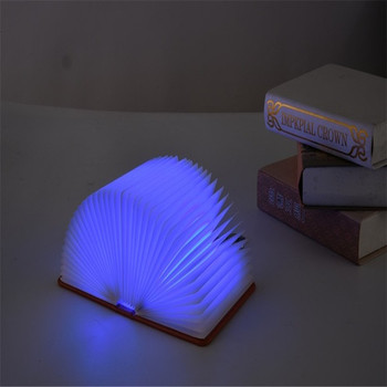 Flip Five-Color BoY Lamp Small Night Lamp USB Charging LED Folding Book Light Decoration Bedside Table Lamp creative discoloration led book funny light usb flip book light usb charging night light decoration folding table strange lamp