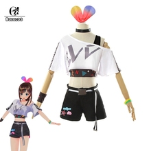 ROLEOCE Kizuna AI Cosplay Costume Vtuber Hello World 1st Liv
