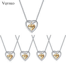 Ювелирные изделия на заказ ожерелье с кулоном в виде двойного