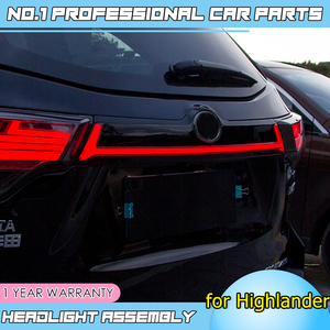 Image 5 - Caraccessories Tail lights For Toyota Highlander Taillights 2018 2019 LED DRL Running lights dynamic signal light brake light
