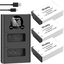 1800 MAh LPE17 LP E17 LP E17 Pin + Tặng Đèn LED USB Sạc Đôi Cho Canon EOS 200D M3 M6 750D 760D t6i T6s 800D 8000D Kiss X8i Máy Ảnh
