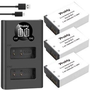 Image 1 - 1800 MAh LPE17 LP E17 LP E17 Pin + Tặng Đèn LED USB Sạc Đôi Cho Canon EOS 200D M3 M6 750D 760D t6i T6s 800D 8000D Kiss X8i Máy Ảnh