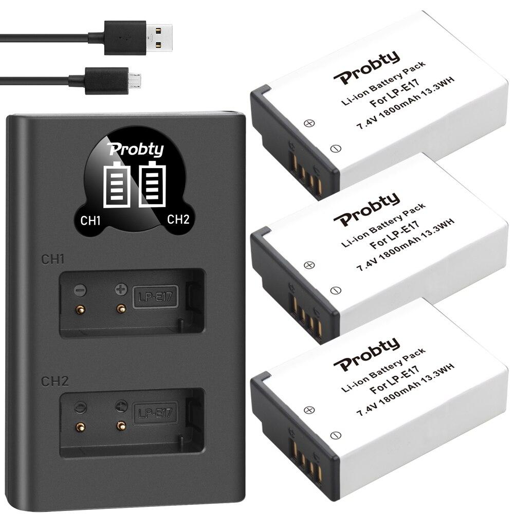 1800mAh  LPE17 LP E17 LP E17 Battery+LED USB Dual Charger for Canon EOS 200D M3 M6 750D 760D T6i T6s 800D 8000D Kiss X8i CamerasDigital Batteries   - AliExpress