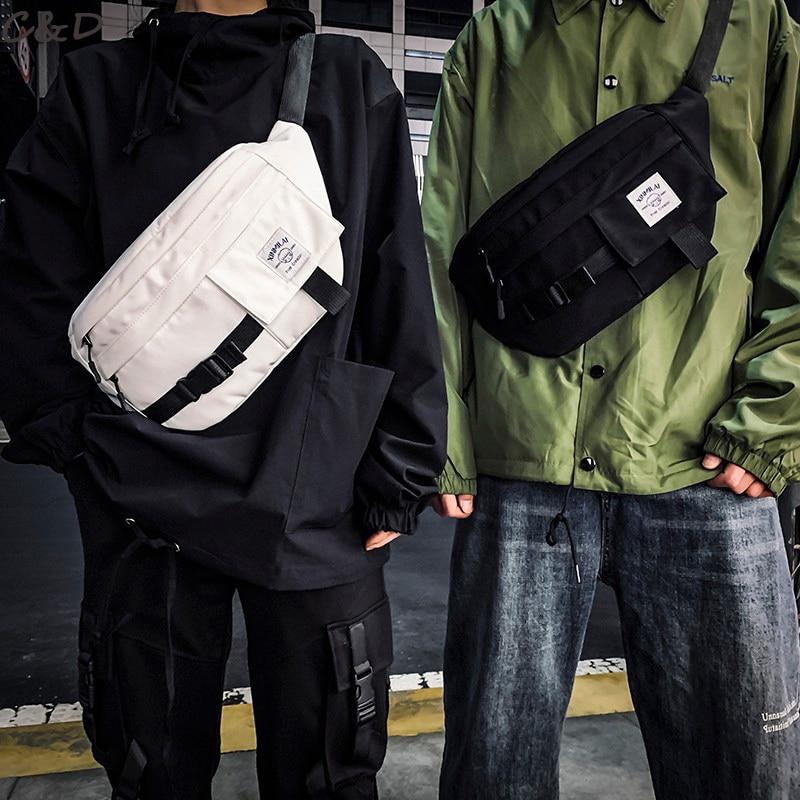 Unisex Chest Bag Women's Waist Bag Belt Leisure Fanny Pack Female Large Capacity Pack Men Canvas Material Hip Hop Package