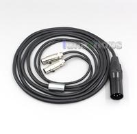 LN006077 XLR Balanced Weave Cloth OD 5mm OCC Pure Silver Plated Headphone Cable For Audeze LCD 3 LCD3 LCD 2 LCD2 g