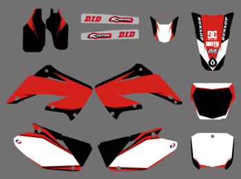 Motorcycle Graphic Decal Sticker For Honda CR125 CR250 CR125R CR250R CR 125 250 R 2002 2003 2004 2005 06 07 08 09 10 2011 2012