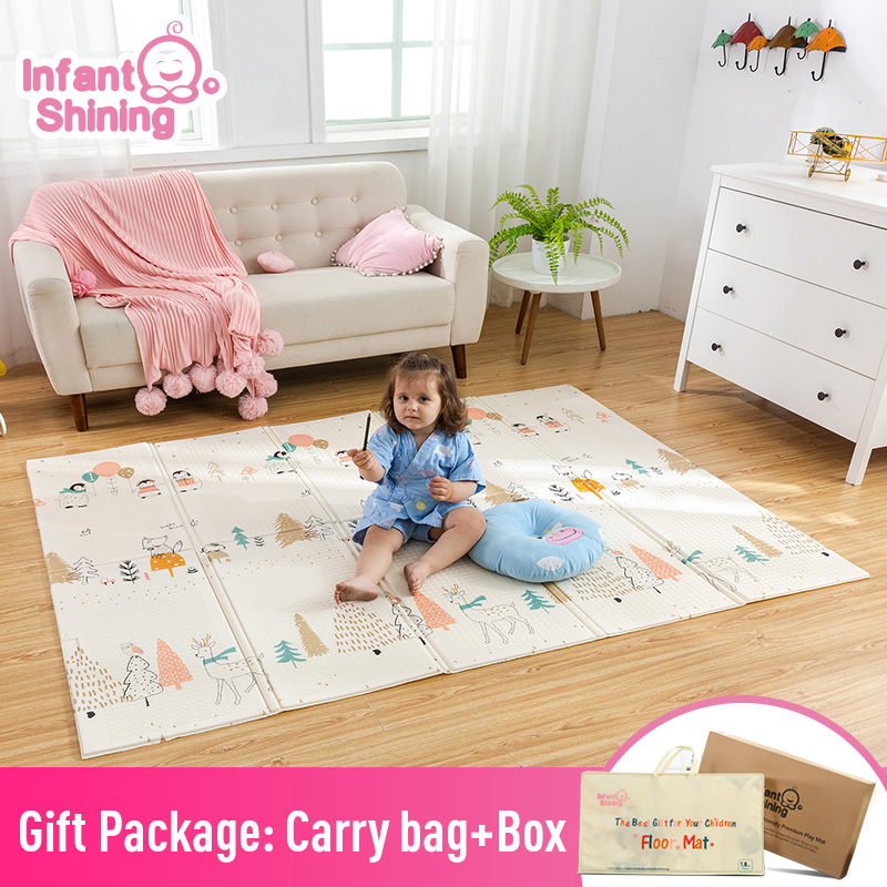 Infant Shining Kids Play Mat Folding