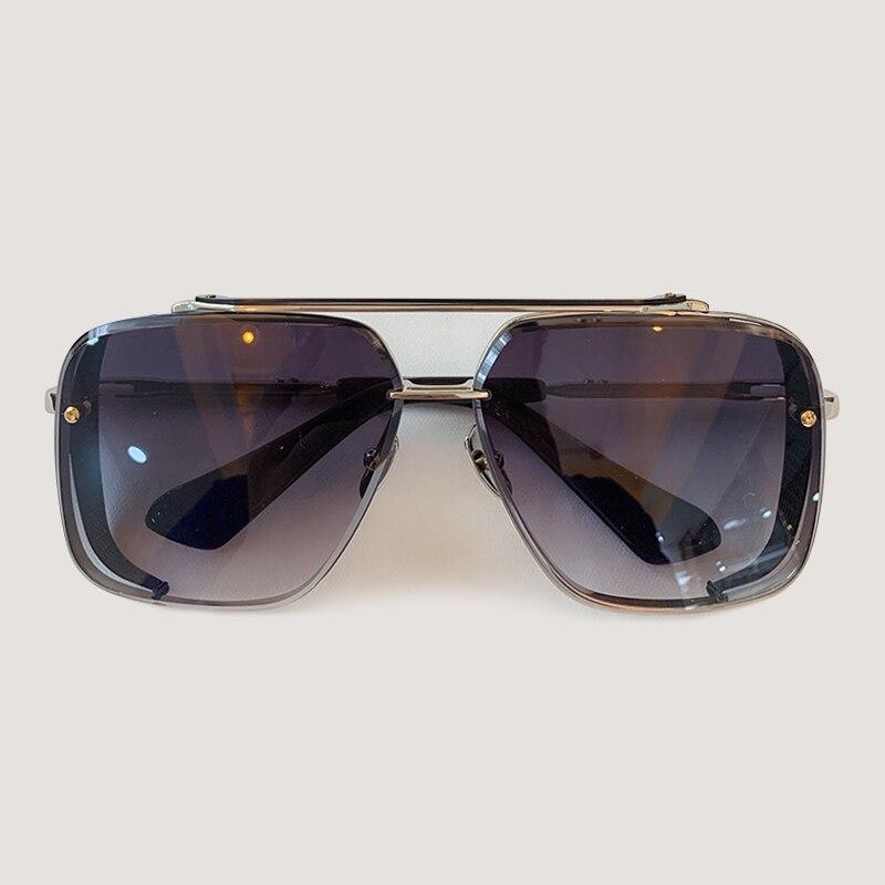 Мужские солнцезащитные очки модные квадратные солнцезащитные очки Oculos De Sol брендовые дизайнерские женские оттенки - 6