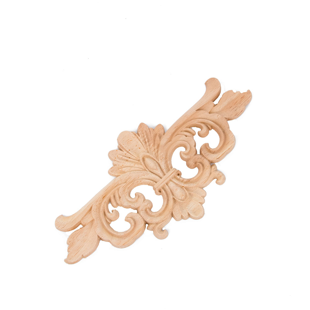 Carving Wood Decoration Wood Furniture Wooden Applique Decal Corner Onlay Applique Frame For Home Decor