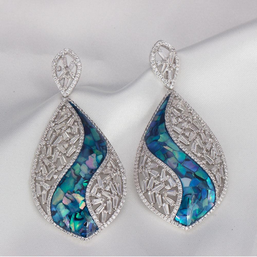 Bijoux de mariage accessoires Dangle boucles d'oreilles taille moyenne or argent couleur boucle d'oreille pour la fête