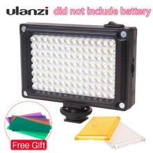 Ulanzi חדש 112 LED ניתן לעמעום וידאו אור מנורה נטענת פנל אור BP 4L סוללה עבור DSLR מצלמה Videolight חתונה הקלטה