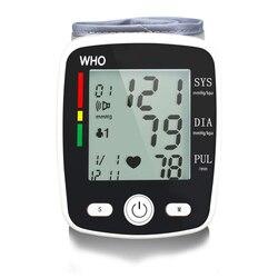 Blood Pressure Monitor Digital Wrist Pulse Heart Beat Rate Meter Device Portable Tonometer BP Sphygmomanometer Home Health Care