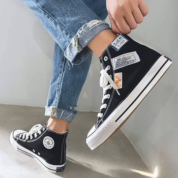 2020 Spring Fashion Canvas Shoes Men High Top Sneakers School Shoes Boys Casual Sneakers Fashion Shoes