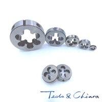 1 pc m5.5 m6 x 0.5mm 0.75mm 1mm métrica mão direita morre ferramentas de rosqueamento do passo para fazer à máquina do molde * 0.5 0.75 1