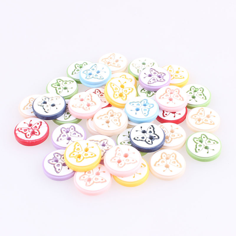 50pcs Christmas Theme Wooden Buttons for Sewing Scrapbooking Clothing Decor 25mm