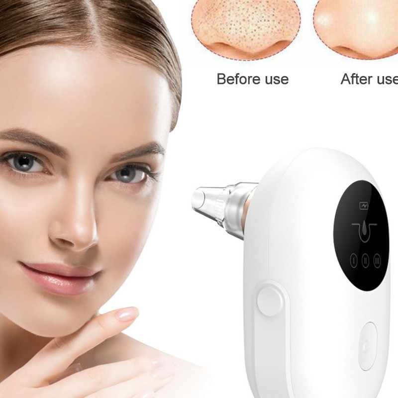 Electric Facial <font><b>Skin</b></font> <font><b>Care</b></font> Pore T Zone Deep Cleaner Acne Point Noir Blackhead Remover Vacuum Extractor <font><b>Tool</b></font> <font><b>Professional</b></font> Cleanser image