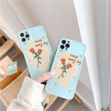 Ins Retro Art Oil Painting Rose Flower Phone Case For iPhone 11 Pro Max Xr X Xs Max 7 8 Puls SE 2020 Cases Soft Silicone Cover(China)