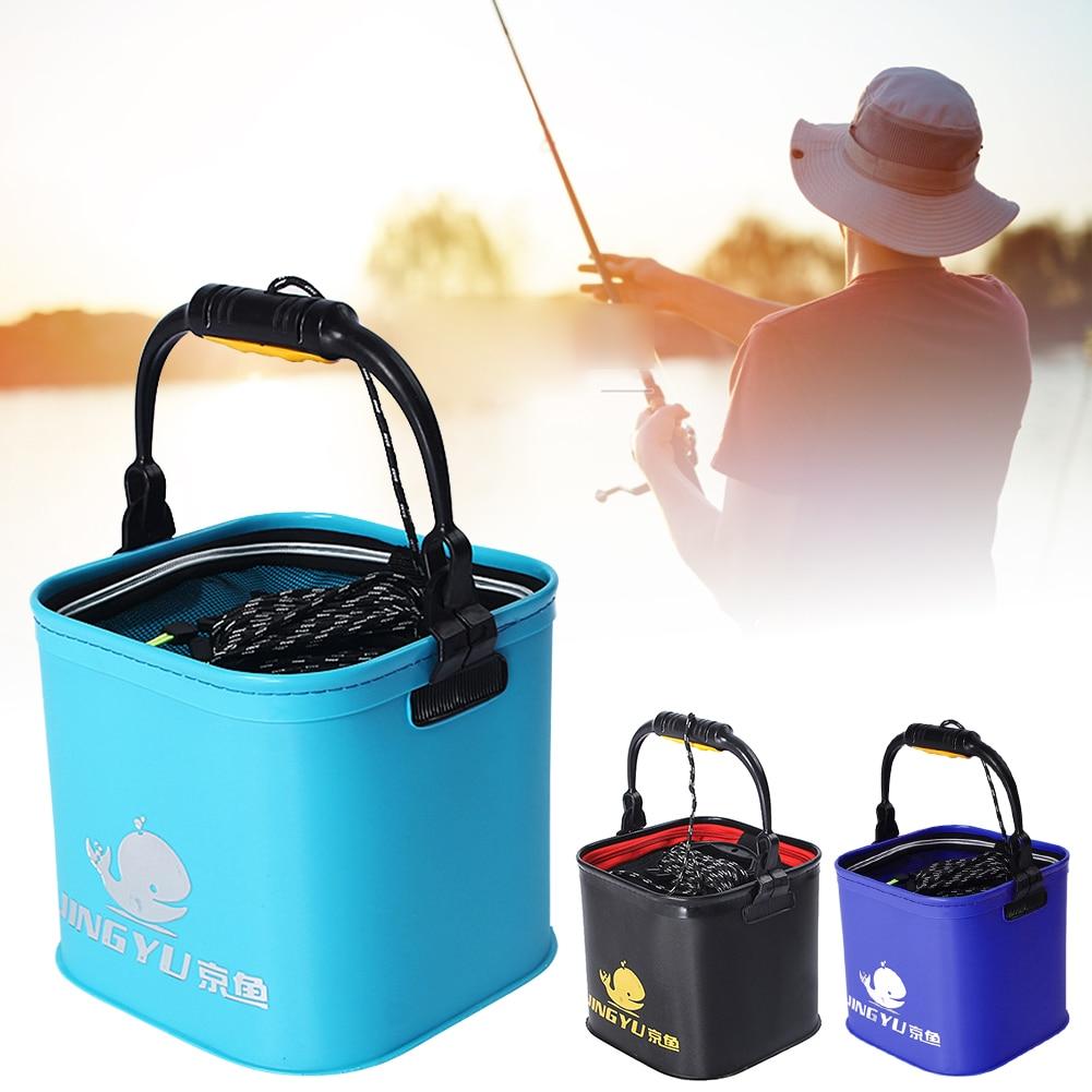 carro pesca dobrável balde água eva acampamento