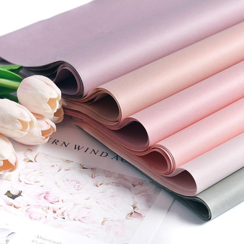 Papel de seda para manualidades, 40 Uds., 75x52CM, papel de envoltura Floral, papel de álbum de recortes, regalo, papel decorativo de flores, fiesta de decoración del hogar
