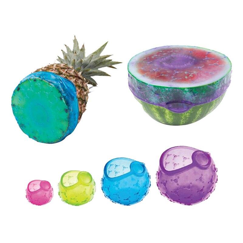 4 шт./компл. силиконовая крышка для кастрюль, многоразовая герметичная чаша для сохранения свежести, эластичная пленка для консервантов, кух...