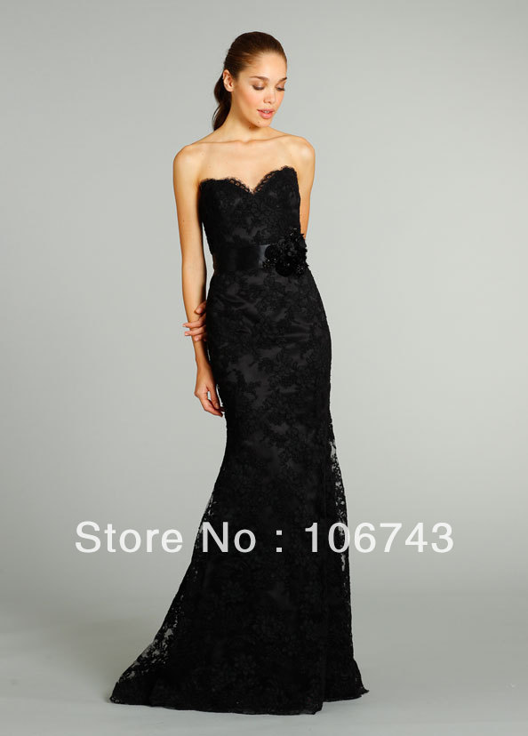Free Shipping 2018 New Style Sexy Brides Custom Black Lace Backless Bow Flowers Evening Gown Mother Of The Bride Dresses