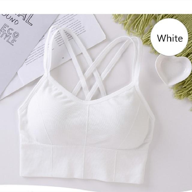 Beauty Back Sports Bra Women Padded Sports Top Vest Tops Shock Proof Gathering High Intensity Yoga