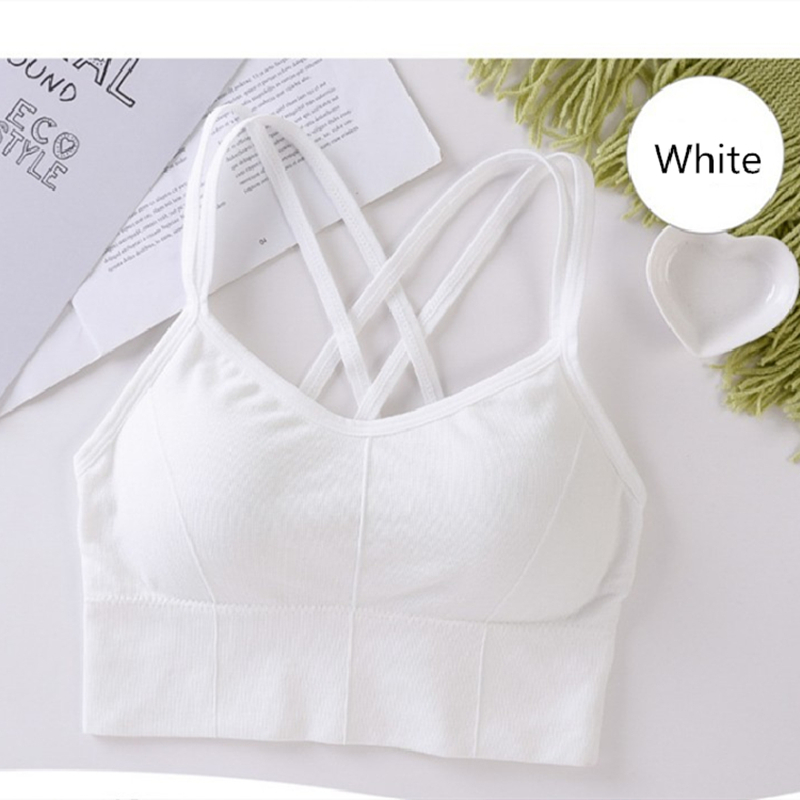 Sports Top Women Vest Tops Beauty Back Sports Bra Padded Shock-Proof Gathering High-Intensity Yoga Bra Cotton Underwear Fitness