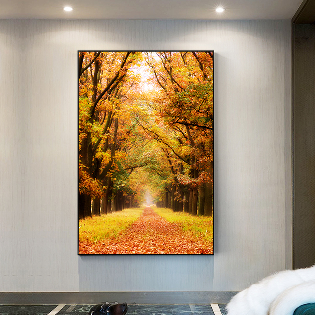 De Hoge Veluwe National Park of Netherlands Autumn Leaves Poster Autumn Canvas Painting Prints Wall Art Pictures for Home Decor 3
