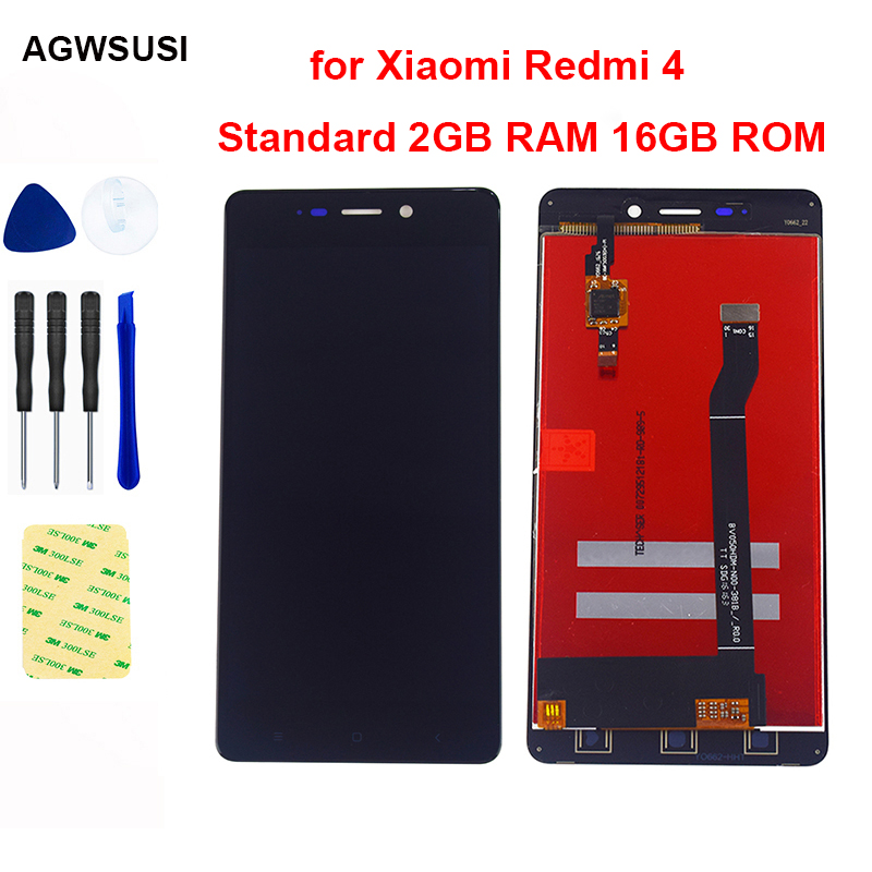 For Xiaomi Redmi 4 Standard 2GB RAM 16GB ROM LCD Display Touch Screen Digitizer Sensor Panel Redmi 4 LCD Screen Assembly