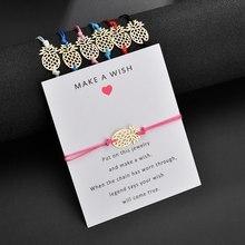 Pineapple Bracelet For Women Gift Jewelry 2019 Friendship Fashion Bangle Hollowed Strand Chain