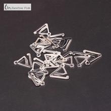 SUNLOOP 100 pezzi di metallo triangolare bra cinghia regolabile gancio clip